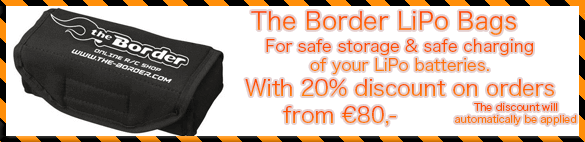20% Discount on The Border LiPo Bags