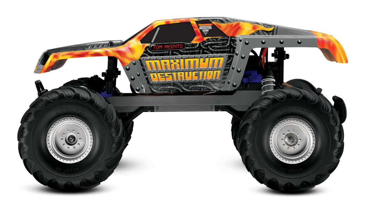 Traxxas Maximum Destruction Rtr Incl 8 4v Battery And