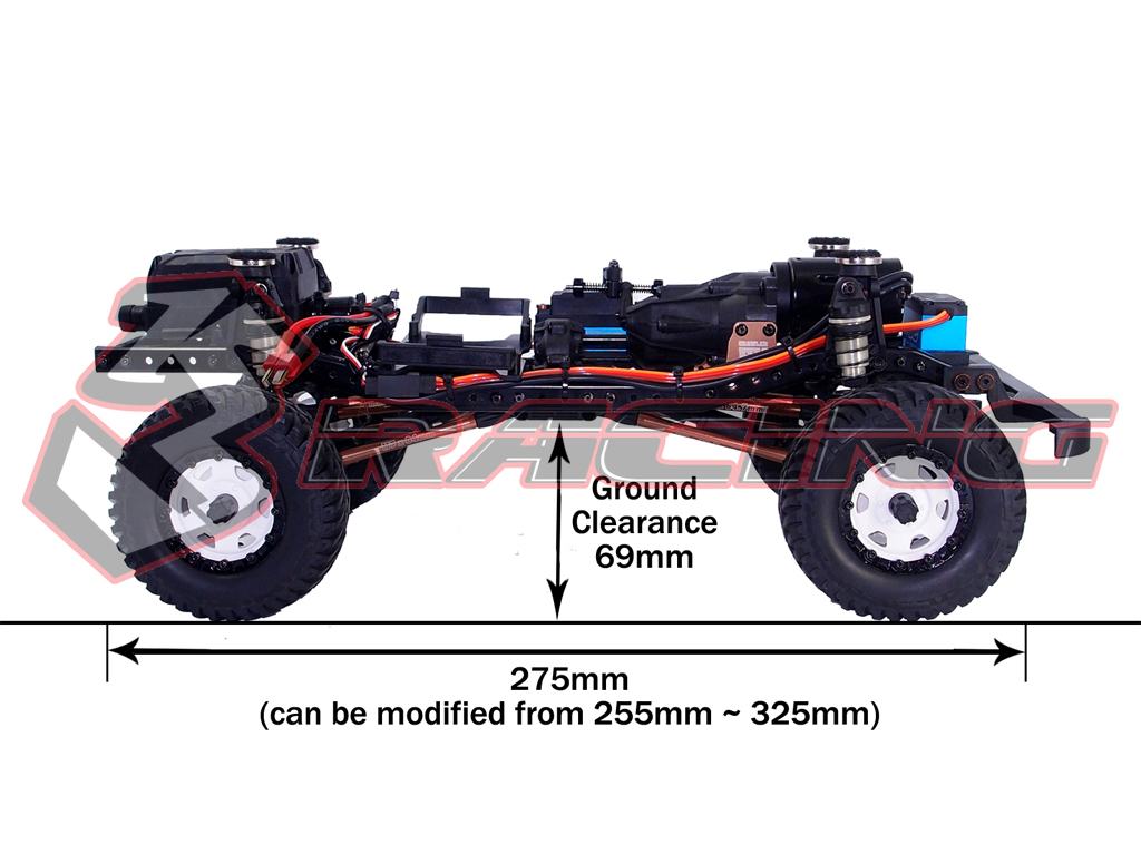 3Racing Crawler Kit - EX REAL w/Land Rover Body