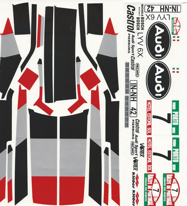 Decal Sheet 1 10 Audi Quatrro Rally Decals Stickers