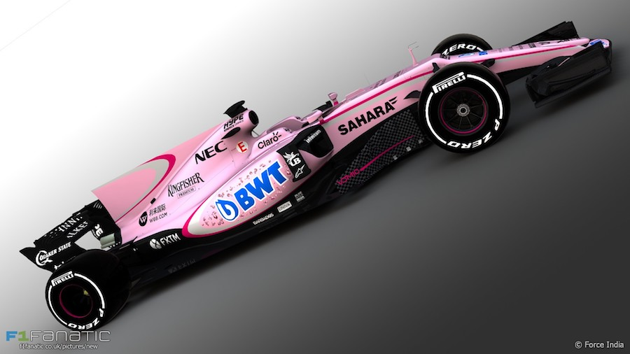 Force india pink vjm10 2017 f1 decal sheet brpd1352
