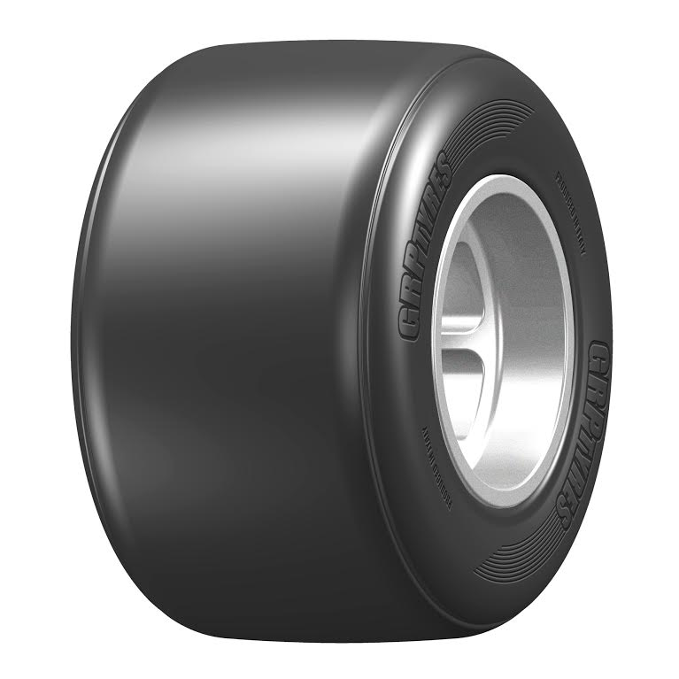 GRP F1 Rubber Tyre F10 Rear - High Grip S2 - Preglued BRCA Approved GFX20-S2