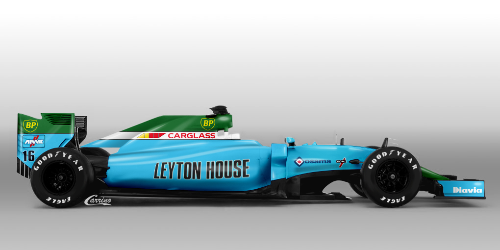 Leyton house cg901 1990 f1 decal sheet brpd1340