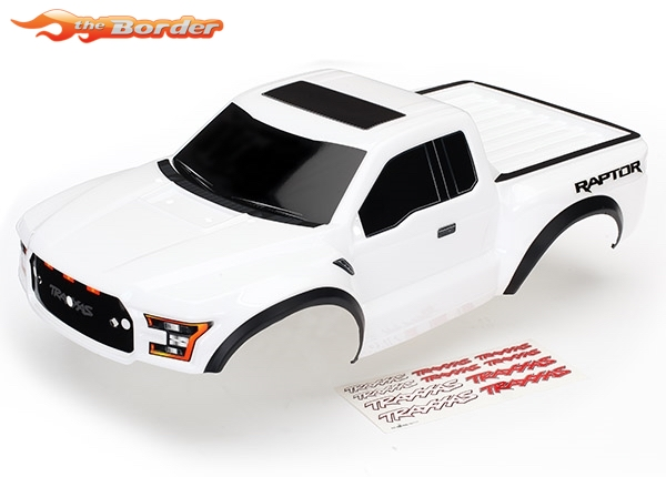 Body Ford Raptor White Painted Decals Applied TRXX - Ford raptor decals