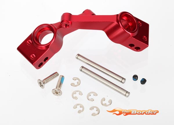 Traxxas Carriers stub axle (Red 6061-T6 aluminum) (2) 1952A