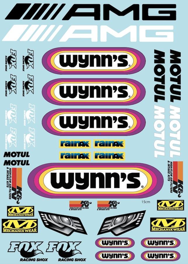 Wy Racing 1/10 Shortcourse Livery Decal BRPD1543