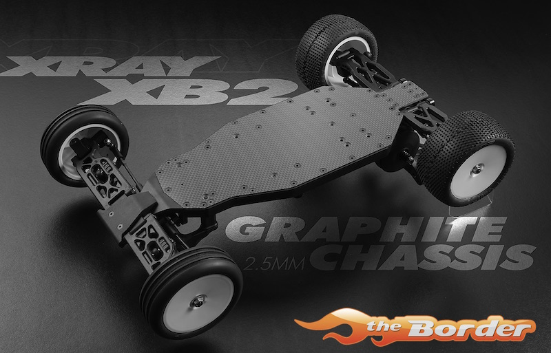 Xray Xb2 Graphite Chassis 2 5mm 321102