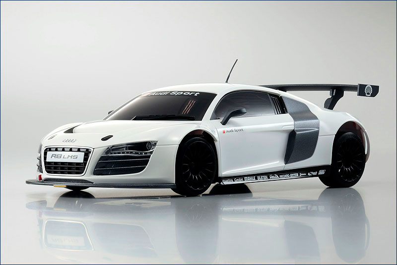 Kyosho Body Set DWS Audi R8 LMS White MZP-419-W :: Body sets :: 1:24 Kyosho Mini-Z Cars ...