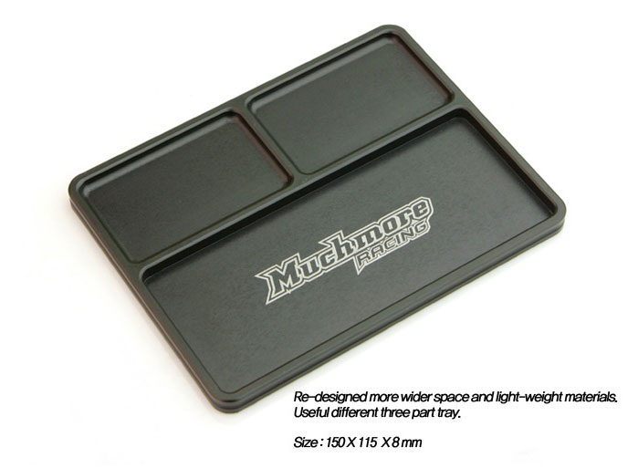 MuchMore Hard Luxury Alum. Part Tray V2 Black MR-APTK2