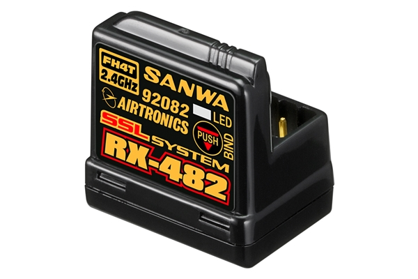 Sanwa RX-482 Receiver 2.4GHz FH4 SSR/SSL 4-channel (Integrated Antenna) 107A41257A