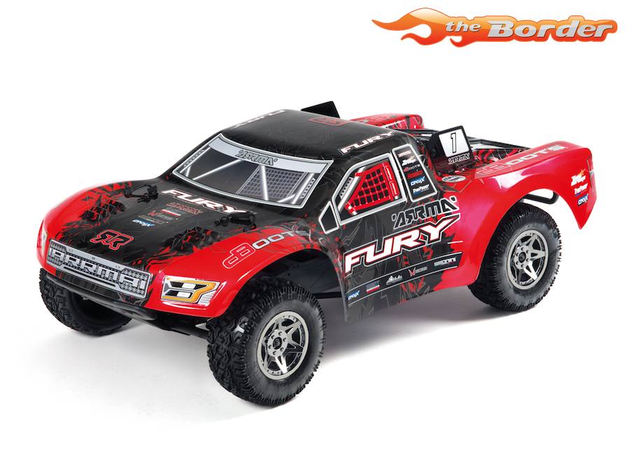 ARRMA Fury BLX 2WD 1/10 RTR Kit - Red/Black AR102661