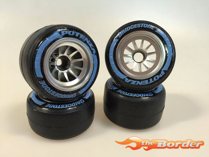 F1 Tyre Decals Type 1 BS - Blue BRPD1204
