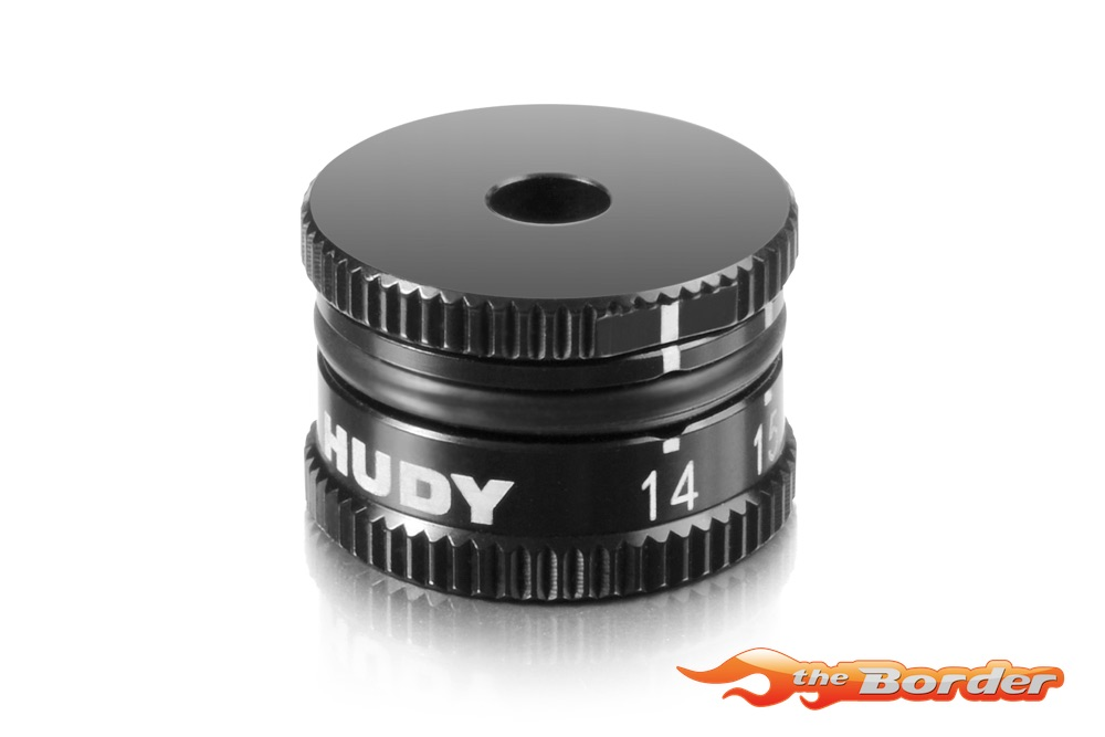HUDY Adjustable Ride Height Gauge 14-20mm for 1/10 Offroad 107740