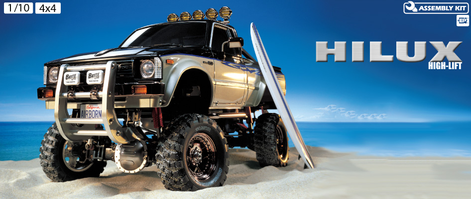 Tamiya 1/10 Toyota Hilux High Lift - 4x4 3Speed WITH FREE MFC-02 58397