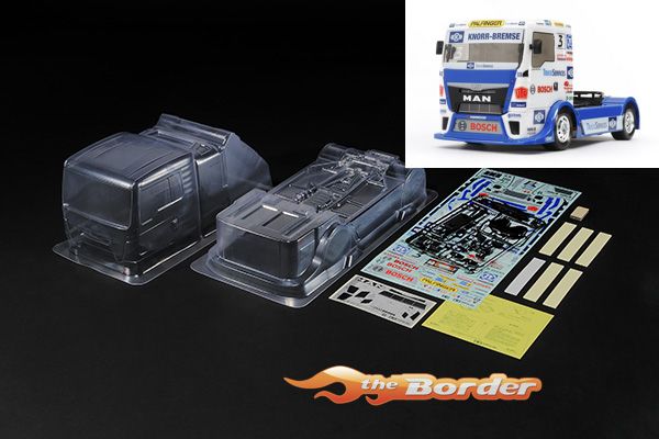 Tamiya Body Set Team Hahn Racing MAN TGS  - 1/10 Truck Body Set (Complete) 51606