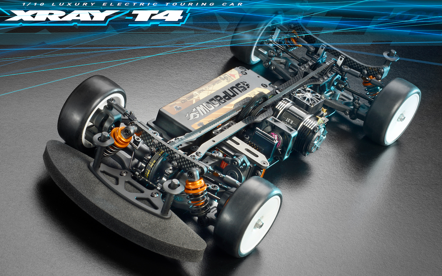XRAY T4 2020 Specs 1/10 Luxury Electric Touring Car - Alu Edition + FREE XRAY T-SHIRT 300027