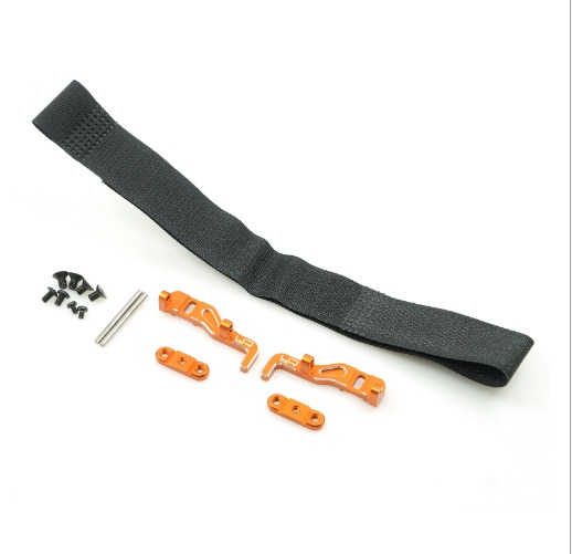 Yeah Racing Alum. LiPo Battery Mount Orange for XRAY T4 XR-T4-010OR