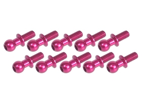 3Racing Aluminum 4.8MM Ball Stud L=10 (10 pcs) - Pink 3RAC-BS4810/PK