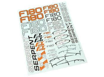 Serpent decal-sheet F180  301003