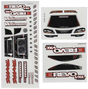 Traxxas Decal Sheets 1/16 E-Revo VXL 7113