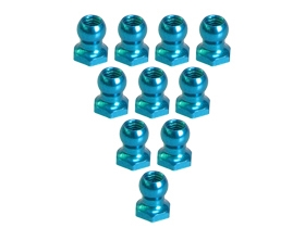 3Racing Aluminum 4.8MM Ball Stud L=5 (10 pcs) - Light Blue 3RAC-BS48H5/LB