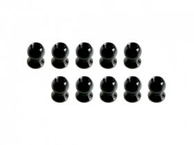3Racing 5.8MM Hex Ball Stud L=5 (10 pcs) - Black 3RAC-BS58H5/BL