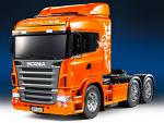 Tamiya 1:14 Scania R620 Metalic Orange Full Opt. Fin (MFC-01) + Transmitter 23689