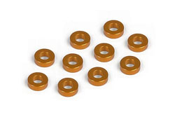 XRAY Alu Shim 3x6x2.0mm - Orange (10) 303123-O