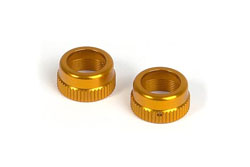 XRAY T2 Alu Shock Cap-Nut with Vent Hole - Orange(2) 308352-O
