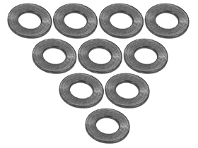 3Racing Aluminium M3 Flat Washer 0.5mm (10 Pcs) - Titanium 3RAC-WF305/TI