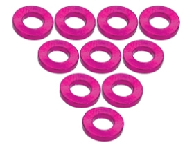 3Racing Aluminium M3 Flat Washer 1.0mm (10 Pcs) - Pink 3RAC-WF310/PK