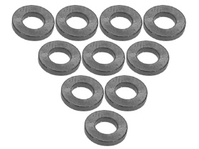 3Racing Alum. M3 Flat Washer 2.0mm (10 Pcs) - Titanium 3RAC-WF320/TI