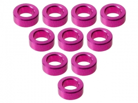 3Racing Alum. M3 Flat Washer M3 x 5 x 2mm (10 Pcs) - Pink 3RAC-WF320/5/PK