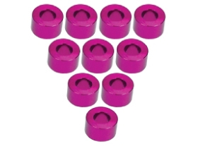 3Racing Aluminium M3 Flat Washer 3.5mm (10 Pcs) - Pink 3RAC-WF335/PK
