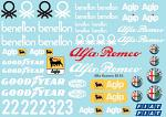 Alf. Rom. Benet. 185T F1 Decal Sheet for 1/10 BRPD1316
