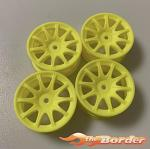 BRP Yellow 10-Spoke Wheels 24mm (4pcs) 1/10 BRP30Y