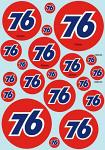 76 Gasoline Logo Decal Sheet BRPD1027