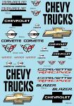 Chevy Logo Decal Sheet 1/10 BRPD1028