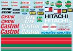 Lotus B107 Ford Castrol Decal Sheet for 1/10 BRPD1354