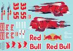 RB Racing 1/10 Touringcar Decal Sheet BRPD1502