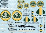 Lotus 7 1/10 Decal Sheet BRPD1521