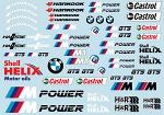 BMVV M-Power Decals for 1/10 Car BRPD1528