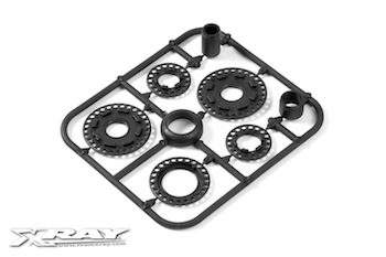 XRAY Composite Belt Pulley Cover Set 345800
