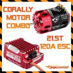Corally 21.5T Dynospeed Motor & Cerix 120A ESC 2S-3S Combo