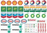 Fuel Companies Decal Sheet for 1/10 BRPD1009