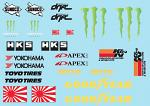 Drift Brands Decal Sheet for 1/10 BRPD1010