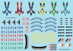 F1 Additional Items (Visors/Seatbelts etc) Decal Sheet BRPD1306