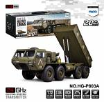HG US Military Dump Truck M977 8x8 1:12 RTR Green Color P803A