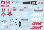 Haas VF18 (2018) 1/10 F1 Decal Sheet BRPD1357