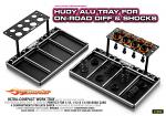 Hudy Alum. Tray For On-Road Diff. & Shocks 109800